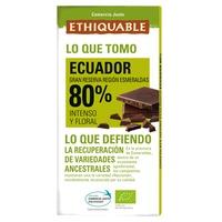 Chocolate Extra Negro 80 % Bio