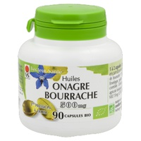 huile de bourrache + onagre 500mg