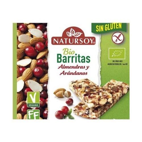 Barritas de Almendras y Arándanos Sin Gluten Bio Vegana