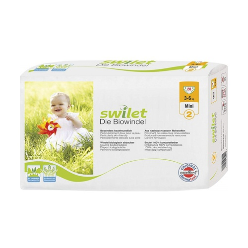 Pañales Biodegradables T2 Mini (3-6 kg)