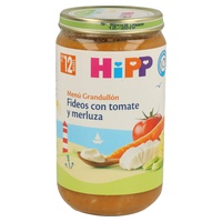 Tarrito de Fideos con Tomate y Merluza (12 meses)