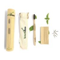 Cepillo Premium con bolsa algodón y semillas - Adulto Medio Negro
