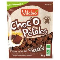 Pétalos de chocolate fresco