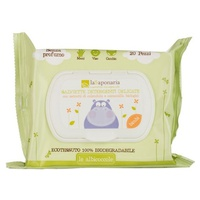 Bio moisturized delicate cleansing wipes without fragrance