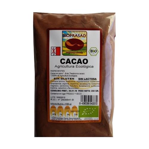 Cacao en Polvo Desgrasado 250 gr de Bioprasad