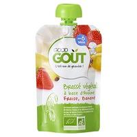 Bolsita Yogur leche de avena, fresa platano 6m+