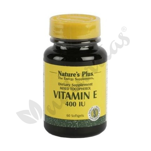 Vitamina E 60 perlas 400ui de Nature's Plus