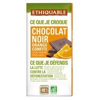 Organiczna ciemna czekolada kandyzowana pomarańcza peru-haití
