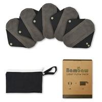 Pack 5 retulisable compresses + toiletry bag | Light flow