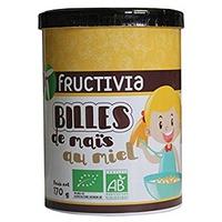 Bolas de maíz orgánico con miel