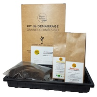 Starter kit for organic seeds to germinate