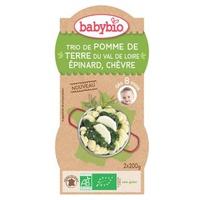 Bol Menu Pommes de Terre Epinards Chèvre Bio (dès 8 mois)