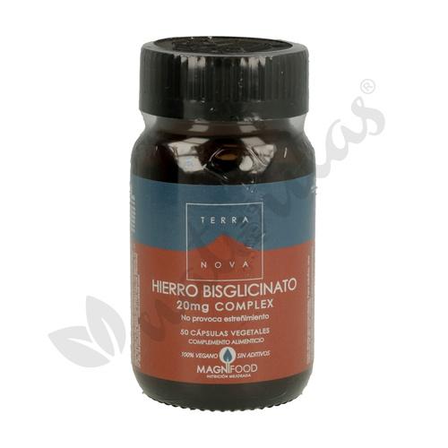 Hierro Bisglicinato 50 cápsulas vegetales de 20 mg de Terranova