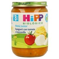 Tarritos de Espagueti con Tomate y Mozzarella Bio (8 meses)