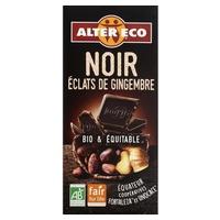Chocolate negro con trocitos de jengibre bio