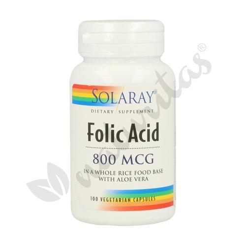 Ácido Fólico 100 cápsulas de 800 mcg de Solaray - Kal