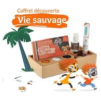 """Caixa Vida Salvaje Kit 3 """"Zebra & Tigre"""": Esmalte de Uñas Bronce Y Mascarilla para el Pelo de Naranja"""