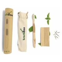 Cepillo Premium con bolsa algodón y semillas - Adulto Medio Blanco