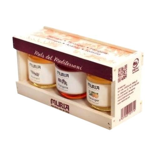 Pack Miel del Mediterráneo 3 botes de miel de 250 gr de Muria