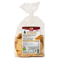 Mini Crackers de Espelta con Cúrcuma y Pimienta Bio
