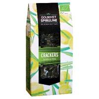 Crackers de espirulina, olivas y romero