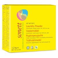 Powdered laundry detergent