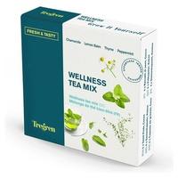 Wellness tea mix, chamomile, lemon basil, thyme and mint