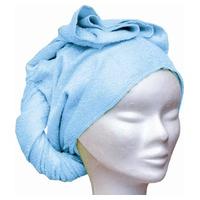 Toalla de bambú para el pelo Azul