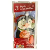 Set de 3 bolsas de alimentación reutilizable