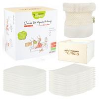Eco kit bambú ecru bambú 10 cuadrados + 10 guantes + 1 caja de madera con red de lavado