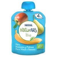Nestlé Naturnes BIO Bolsita Puré de Fruta Pera, Manzana y Plátano 4m+