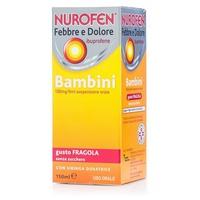 Nurofen Febbre e Dolore Bambini 100mg/5ml gusto Fragola (OTC)