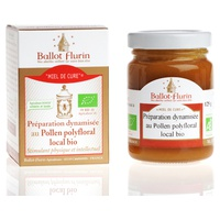 Cure honey, dynamized preparation with local organic polyfloral pollen