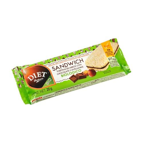 Sandwich Tortitas de Arroz Chocolate y Avellana