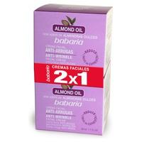 Crème pour le visage anti-rides à l'huile d'amande douce (2X1)
