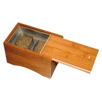 Wooden Box for Moxa Powder Two Containers
