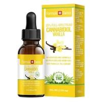 Olej CBD Aromat waniliowy w oleju MCT 2500 (<0,2% THC)