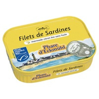 Brittany sardines in organic extra virgin olive oil and organic lemon
