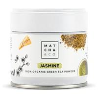 Zielona herbata i jaśmin w proszku
