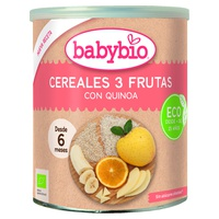 Cereal porridge and 3 fruits + 6 months