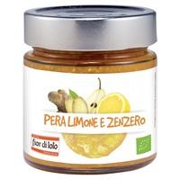 Compota de pera, limón y jengibre