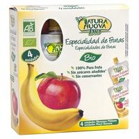 Multipack de Puré de 4 Doypack de Manzana y Plátano Bio