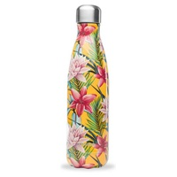 Stainless Steel Insulated Bottle 500ml Yellow Flower