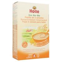 Papilla de 3 Cereales Bio (Sin Gluten) 250 gr de Holle
