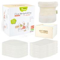 Eco kit col eucalipto 10 cuadrados + 10 guantes + 1 caja de madera con red de lavado