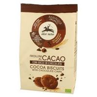 Kakaowe kruche ciasto z organicznymi kroplami czekolady