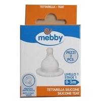 Smoczek silikonowy do butelki dla niemowląt, poziom 1