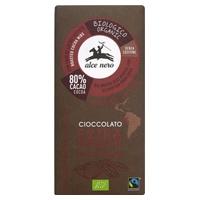 Chocolat noir 80% avec fèves de cacao