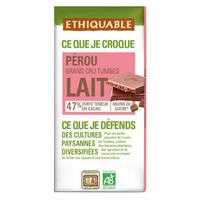 Chocolate con Leche Cacao 47% Bio