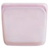 Saco reutilizável de silicone de quartzo rosa